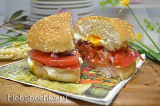 Сэндвич с томатами