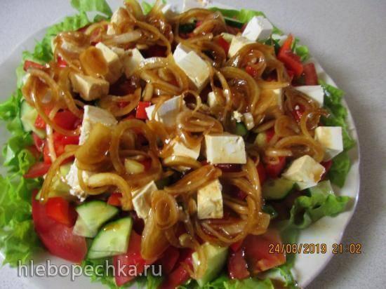 А-ля греческий салат с соевым соусом