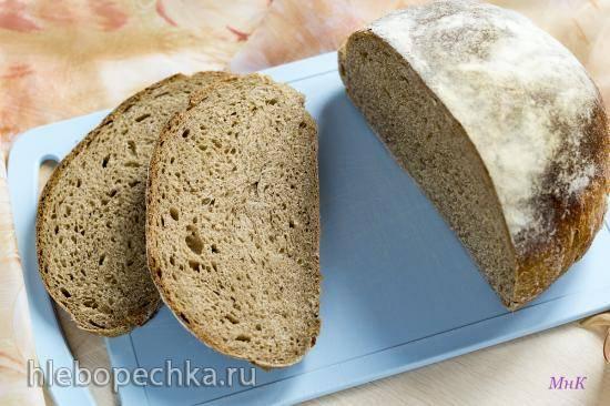 Хлеб с 40% ржаной муки и тмином на закваске (Дж. Хамельман)