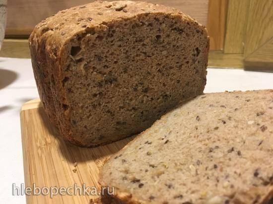 Зерновой хлеб на закваске в хлебопечке Panasonic