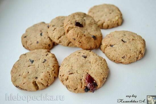 Овсяное печенье с клюквой и шоколадом от Э. Хименеса