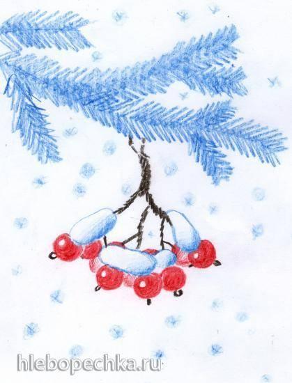 Калина в снегу (елочная игрушка)