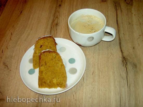 Морковный кекс с ананасами или орехами в медленноварке Breville 3,5 л