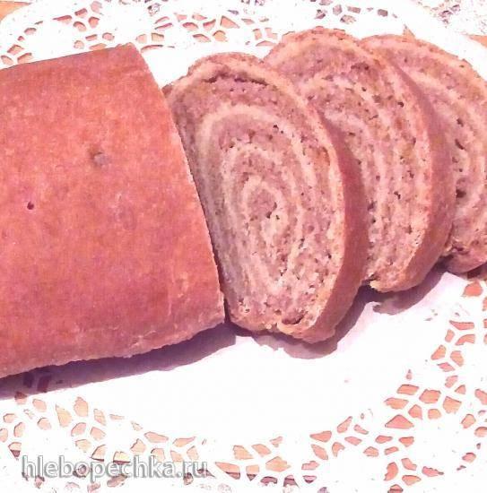 Дрожжевой хлеб из трёх видов муки