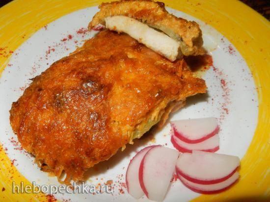 Куриное филе с киви под сыром