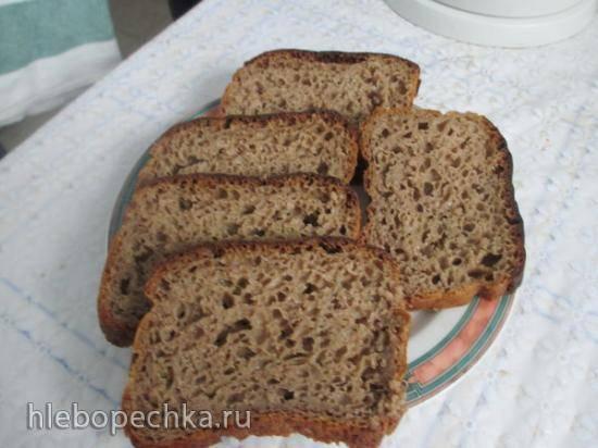 Украинский формовой хлеб на ржаной закваске