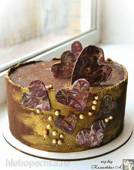 """Шоколадный торт """"Малина в шоколаде"""" с малиновым желе, намелакой и крем-муссом"""