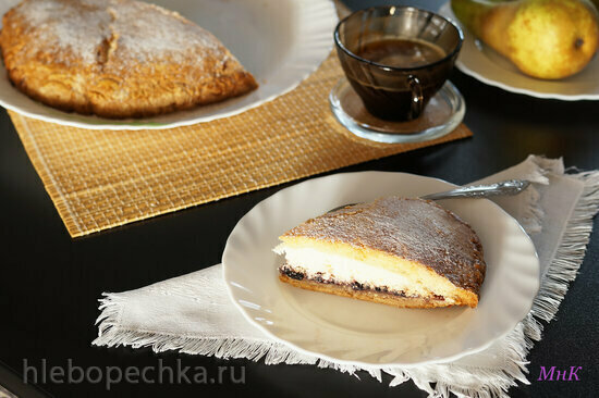 Пирог с рикоттой и вишней (Crostata ricotta e visciole)