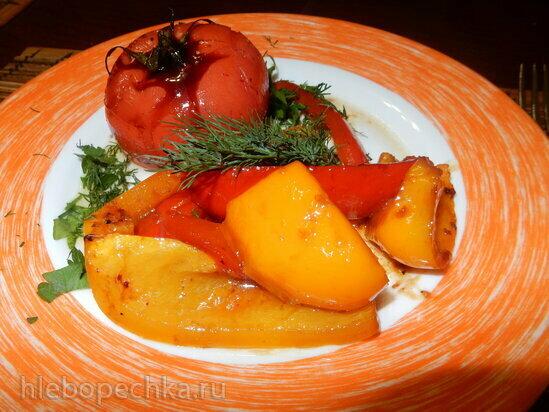 Запеченые овощи с бальзамическим соусом
