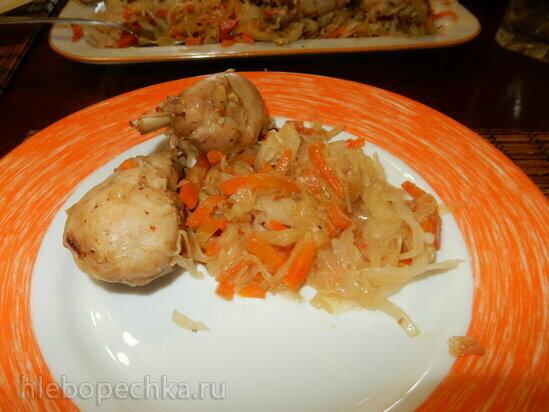 Куриные голени с капустой