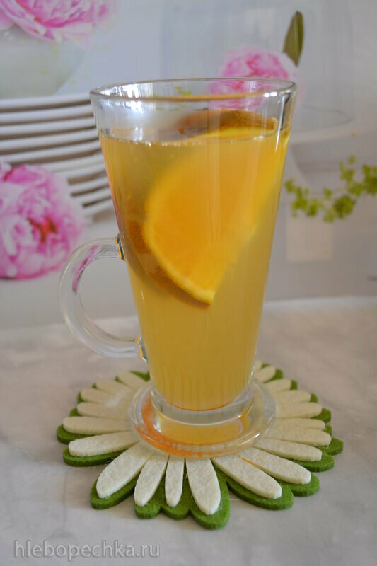 Детокс-напиток Зеленый чай  с апельсином
