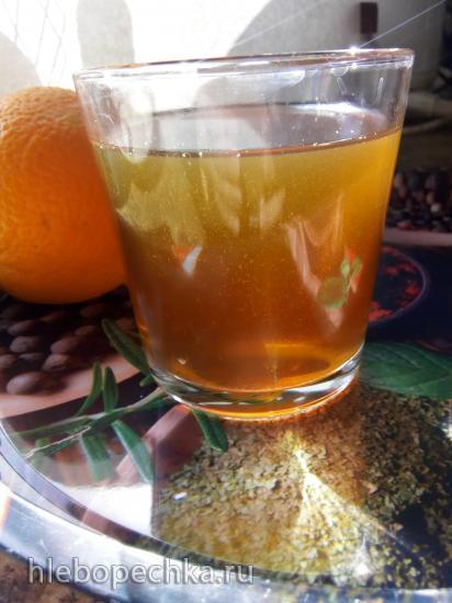 Витаминный напиток с сухофруктами и апельсином