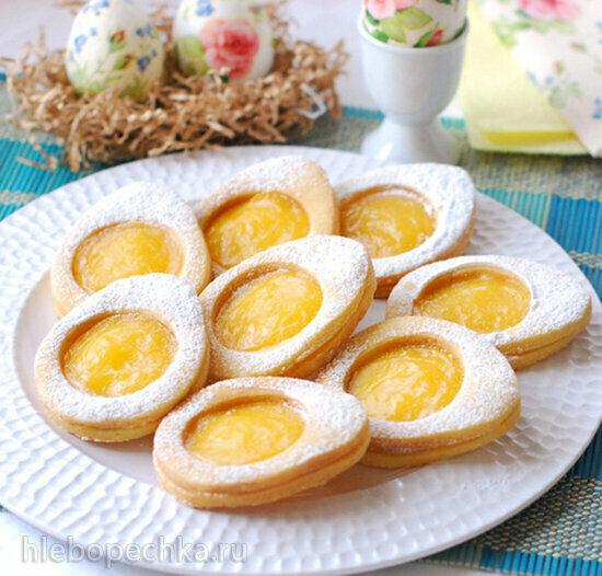 Пасхальное печенье с лимонным курдом