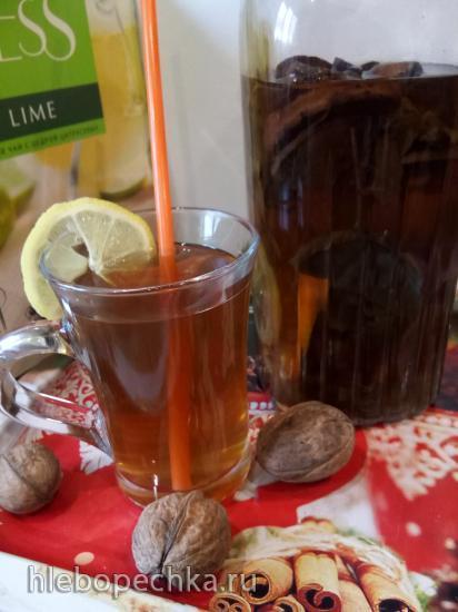 Травяной чай с цитрусовыми и сушеными яблоками