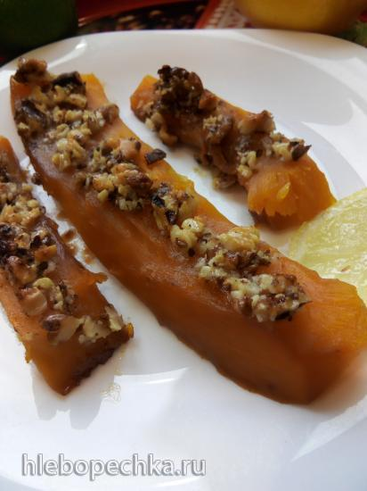 Тыква запеченная с грецкими орехами и медом