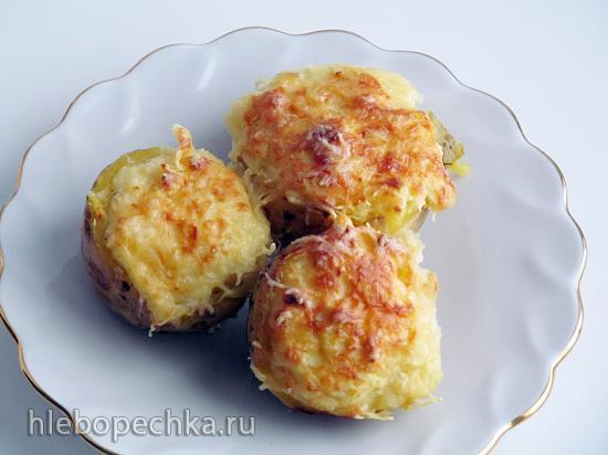 Картофель фаршированный сыром (+видео)