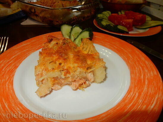 Семга с картофелем в духовке
