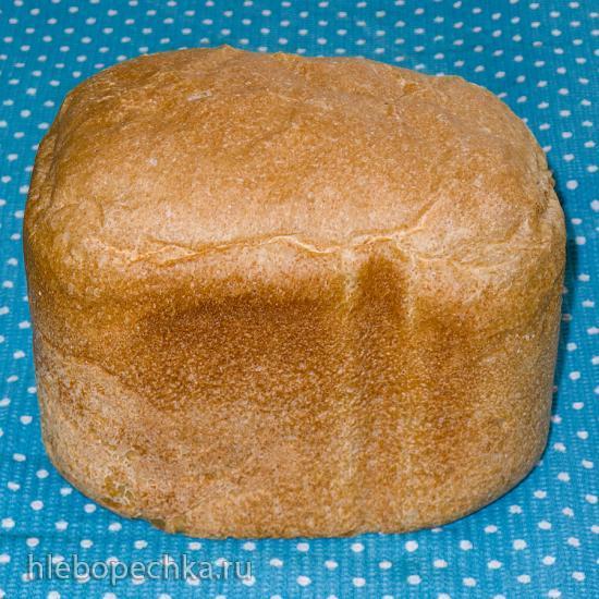 Серый хлеб на живых дрожжах из пшеничной (в/с) и цельнозерновой муки для Panasonic SD-2501