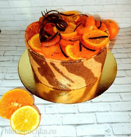 Торт с цитрусовым суфле Тигрис