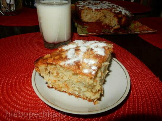 Пирог овсяно-яблочный
