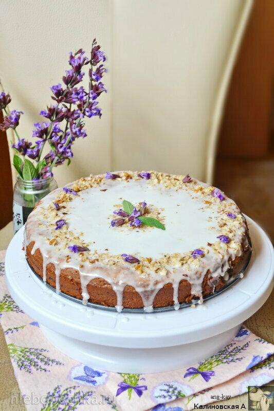 Орехово-финиковый пирог «Джамиля» (без глютена)