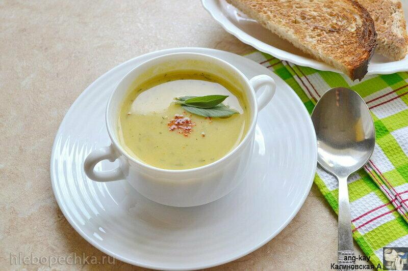 Постный кабачковый суп-пюре с кокосовым молоком и сельдереем (+видео)