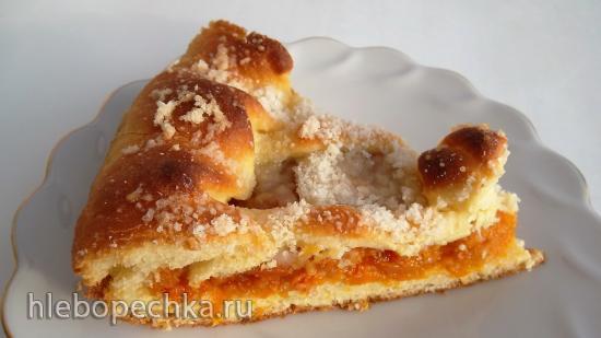 Татарский пирог с курагой (+видео)