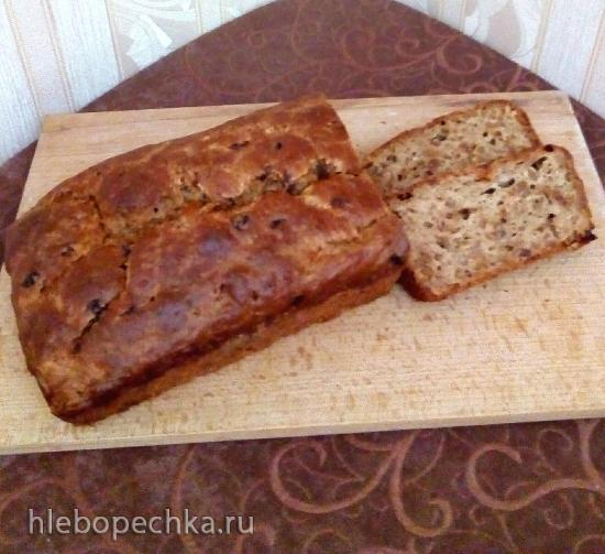 Десертный бездрожжевой яблочный хлеб