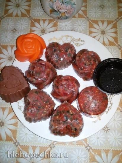 Ароматная заготовка для заморозки из разных овощей для зимы