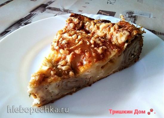 """Ленивый пирог """"Лаваш & мясо & сыр"""""""