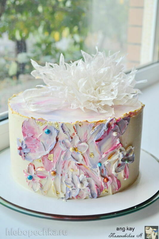 Бисквитный торт с чизкейком внутри Манго-манго (+видео)