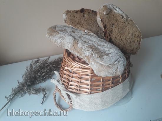 Чабатта пшенично-ржаная на ржаной закваске