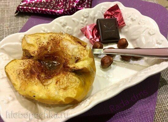 Яблоки десертные, запеченные половинками  в Ninja Foodi (программа Bake)
