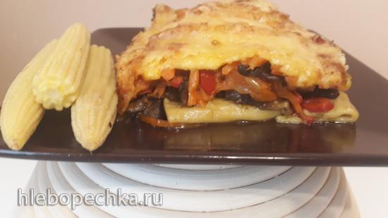 Запеканка из овощей, макарон и сыра