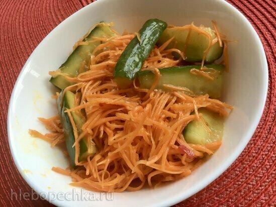 Корейская морковка с огурцами
