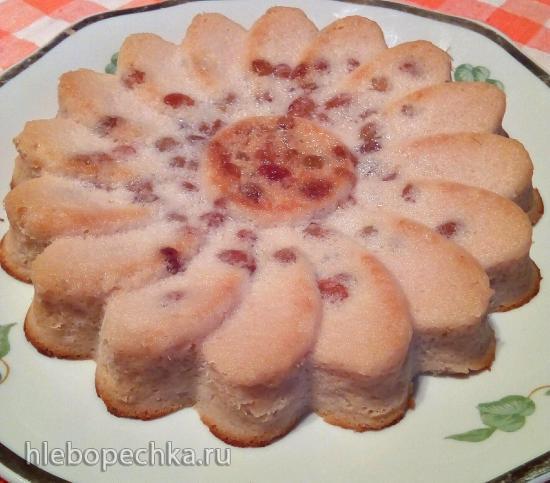 Яблочно-творожная запеканка-суфле с изюмом