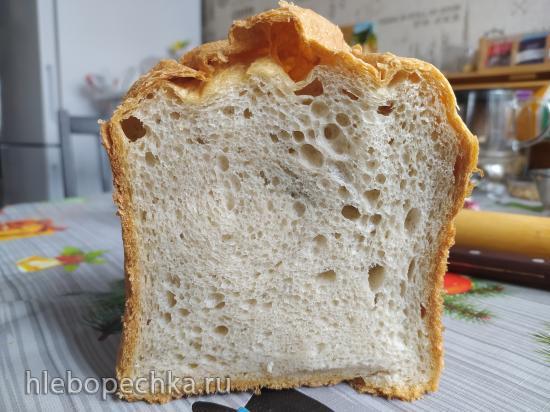 Французский хлеб на пшеничной закваске в хлебопечке Панасоник