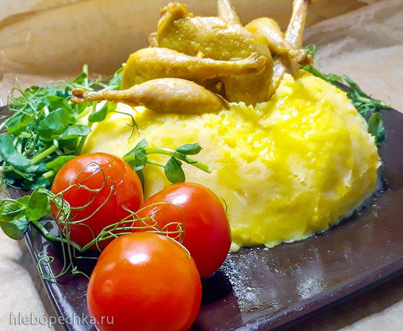 Перепелиные окорочка с картошкой пюре