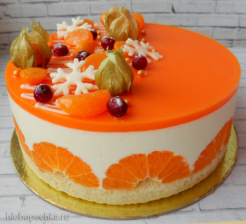 Торт «Мандариновый чизкейк»