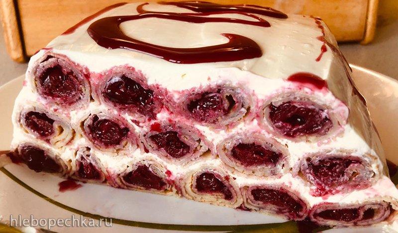 Блинный торт «Вишнёвая горка» (Избушка)