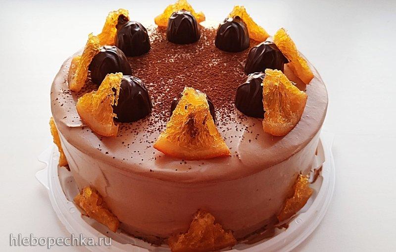 Торт «Апельсин с шоколадом» (+видео)