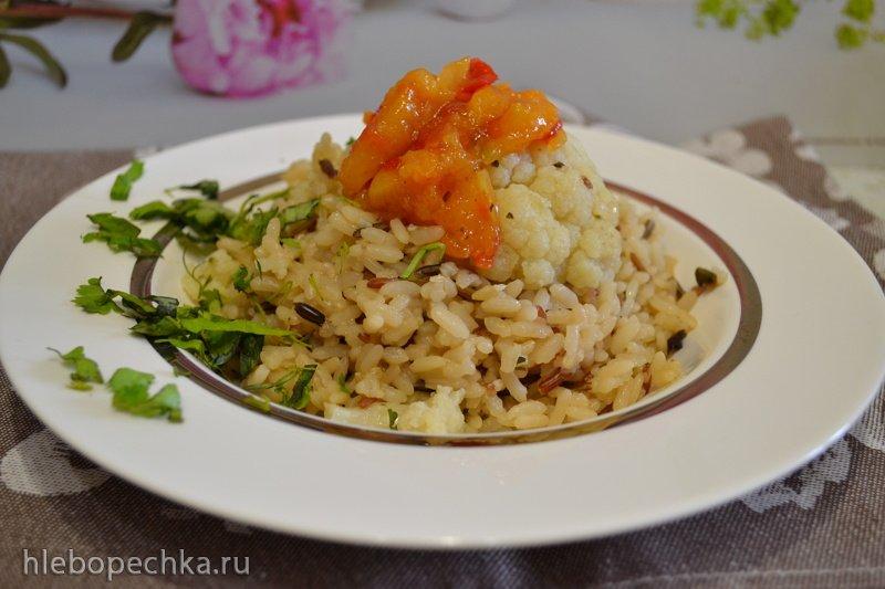 """""""Четыре риса"""" с цветной капустой"""