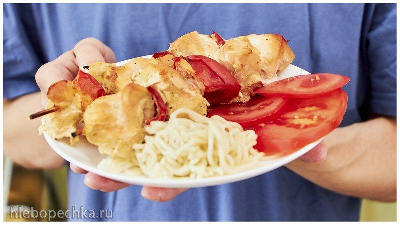 Шашлычок из куриного филе в духовке (+видео)