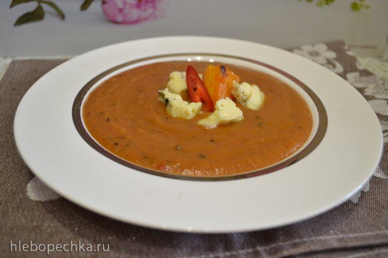 Суп-пюре клубничный с запеченной тыквой