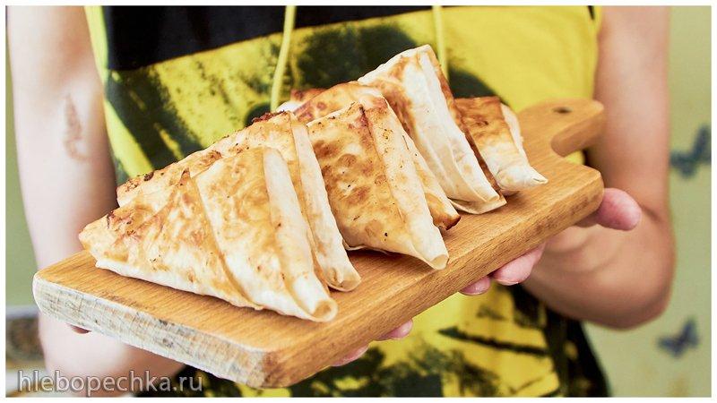 Закуска на раз и два | Конвертики из лаваша с сырно-томатной начинкой
