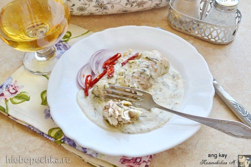 Филе белой рыбы в сливочно-чесночном соусе (+видео)