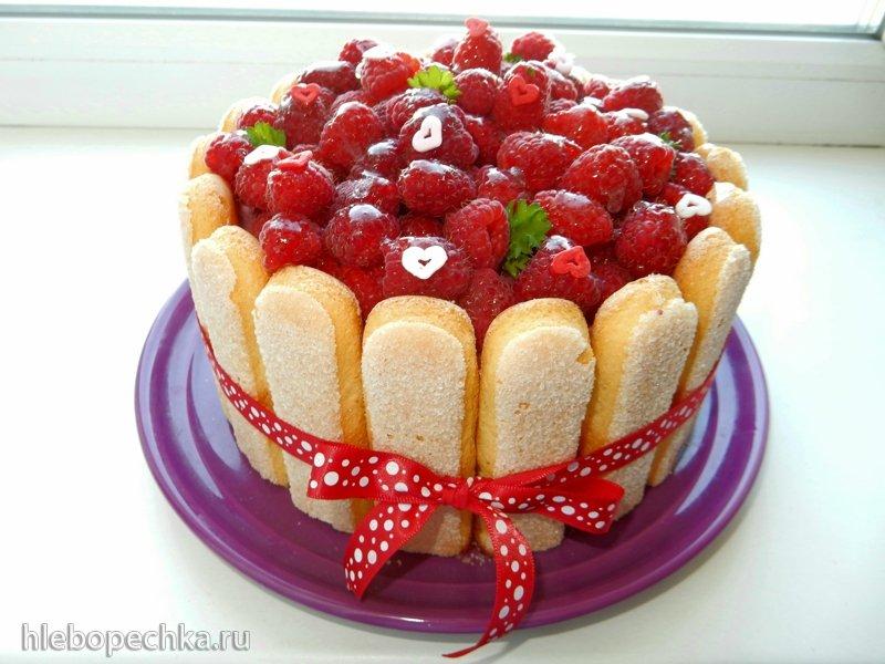 Торт «Шарлотта с малиной»