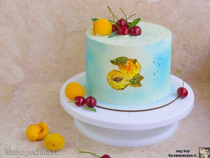 Шоколадный торт «Вишня-абрикос» (+видео)