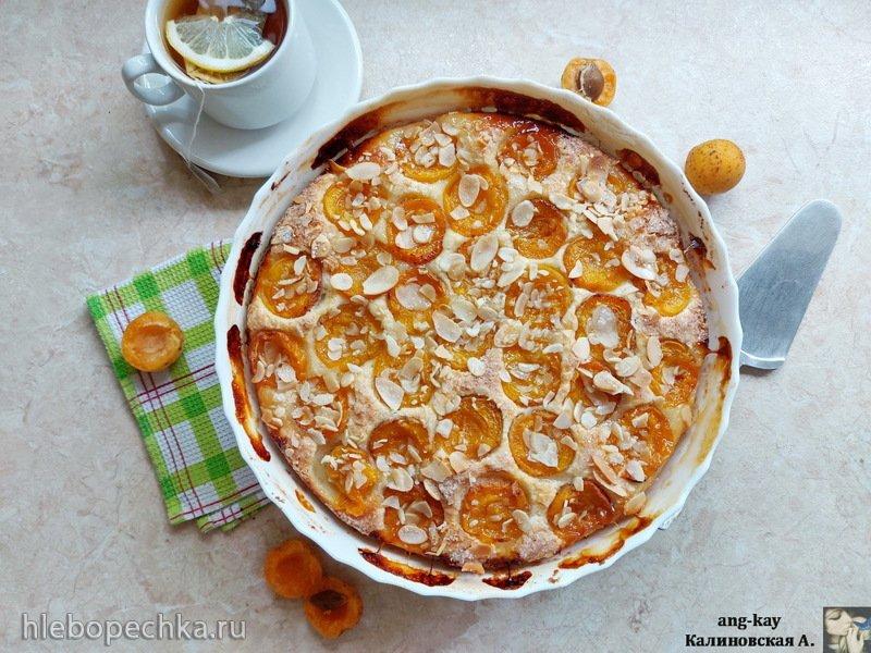 Пирог на творожном тесте с абрикосами (+видео)