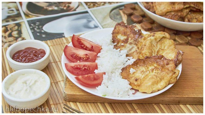 И снова рыбка: Пангасиус в сметанном кляре на сковороде